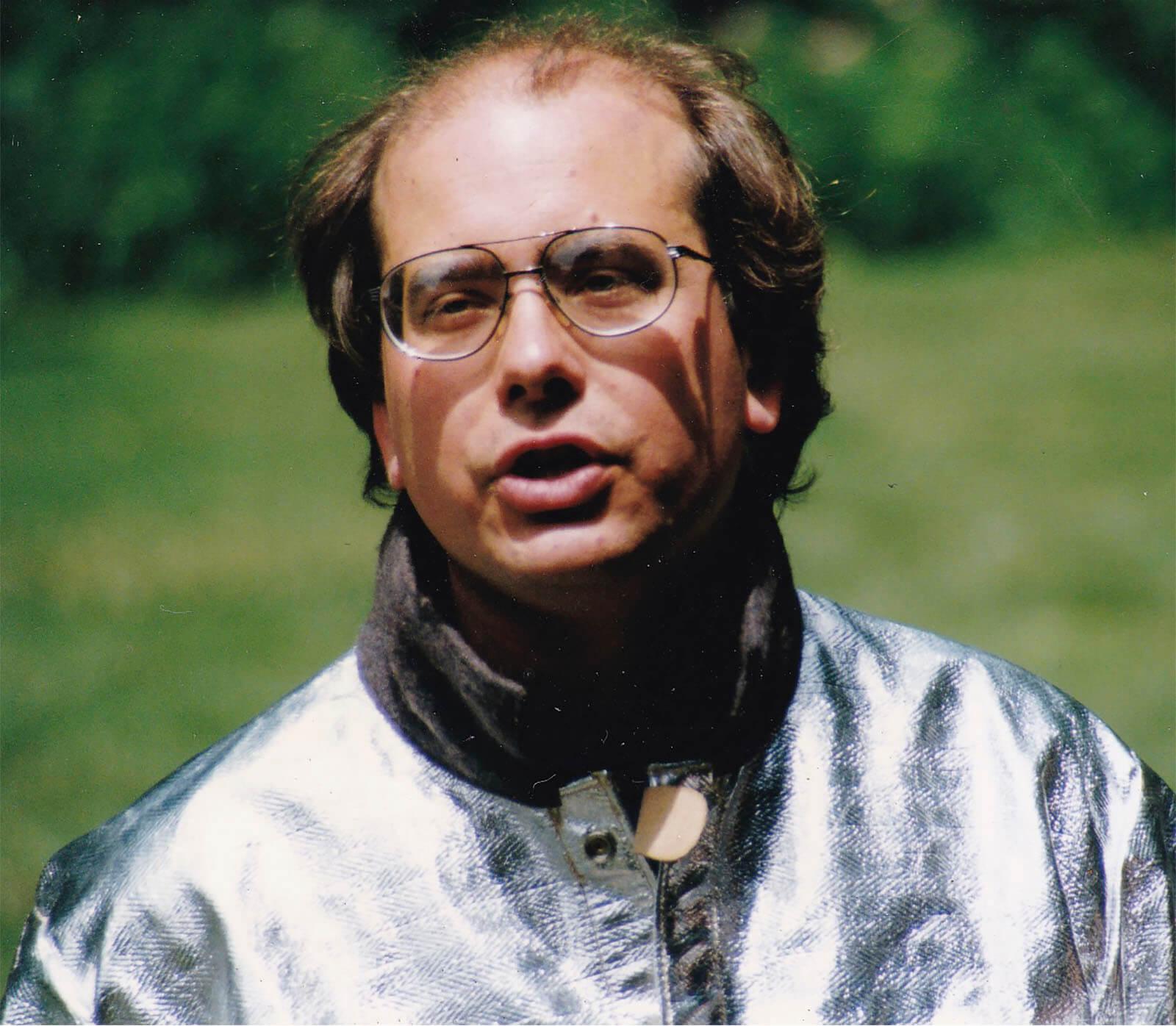 Sculptor Andrew DeVries