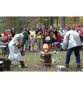 Bronze demonstration at the Clark Art Institute in the Berkshires