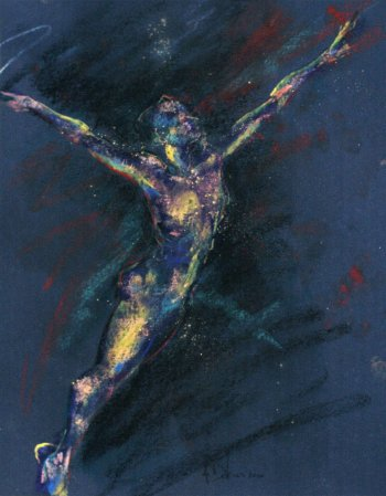Dance pastel by Andrew DeVries