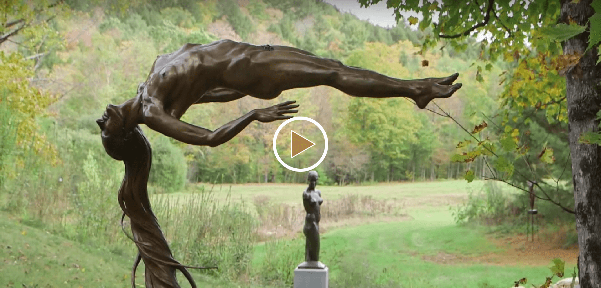 Andrew DeVries AHA Video bronze figurative sculpture cast by Andrew DeVries