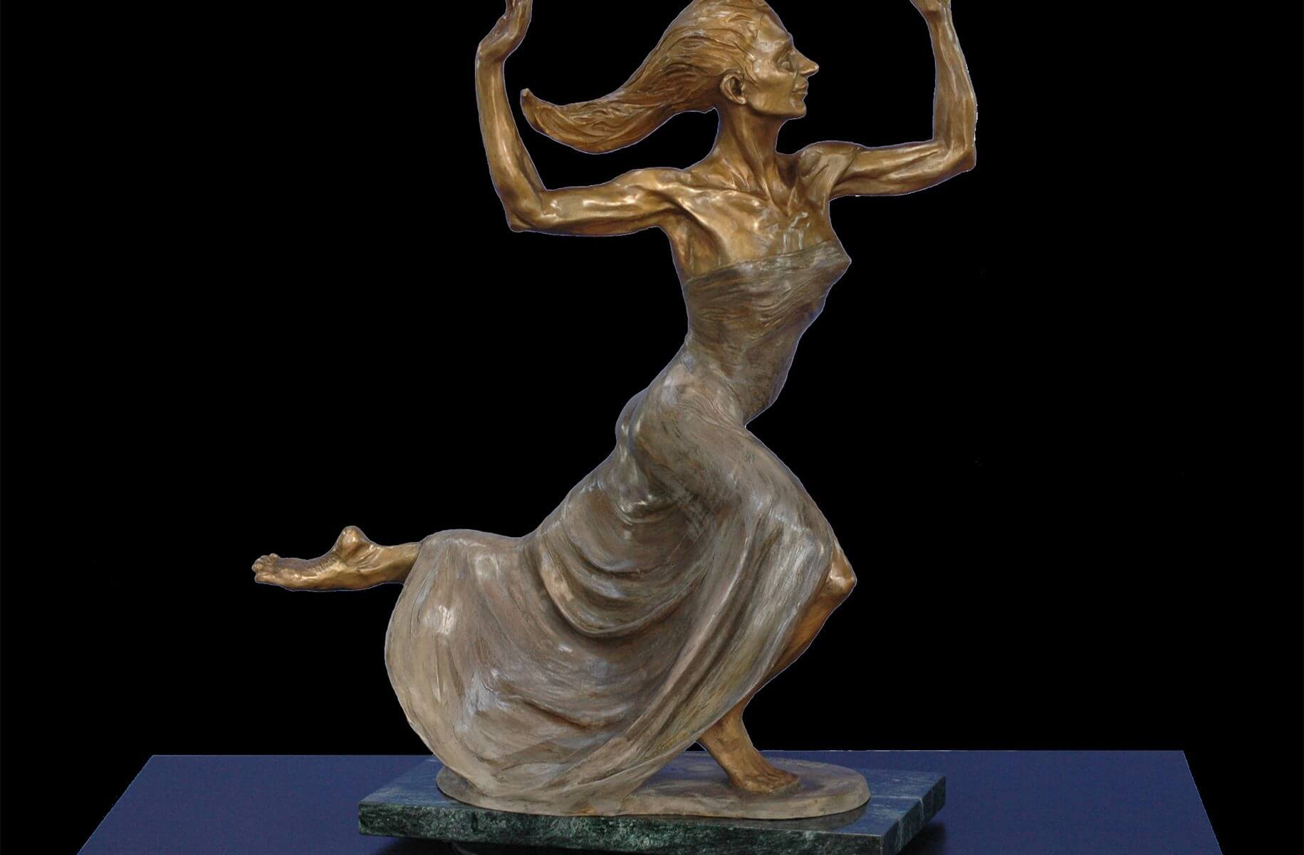 Amazing Grace a medium size bronze dancer by sculptor Andrew DeVries