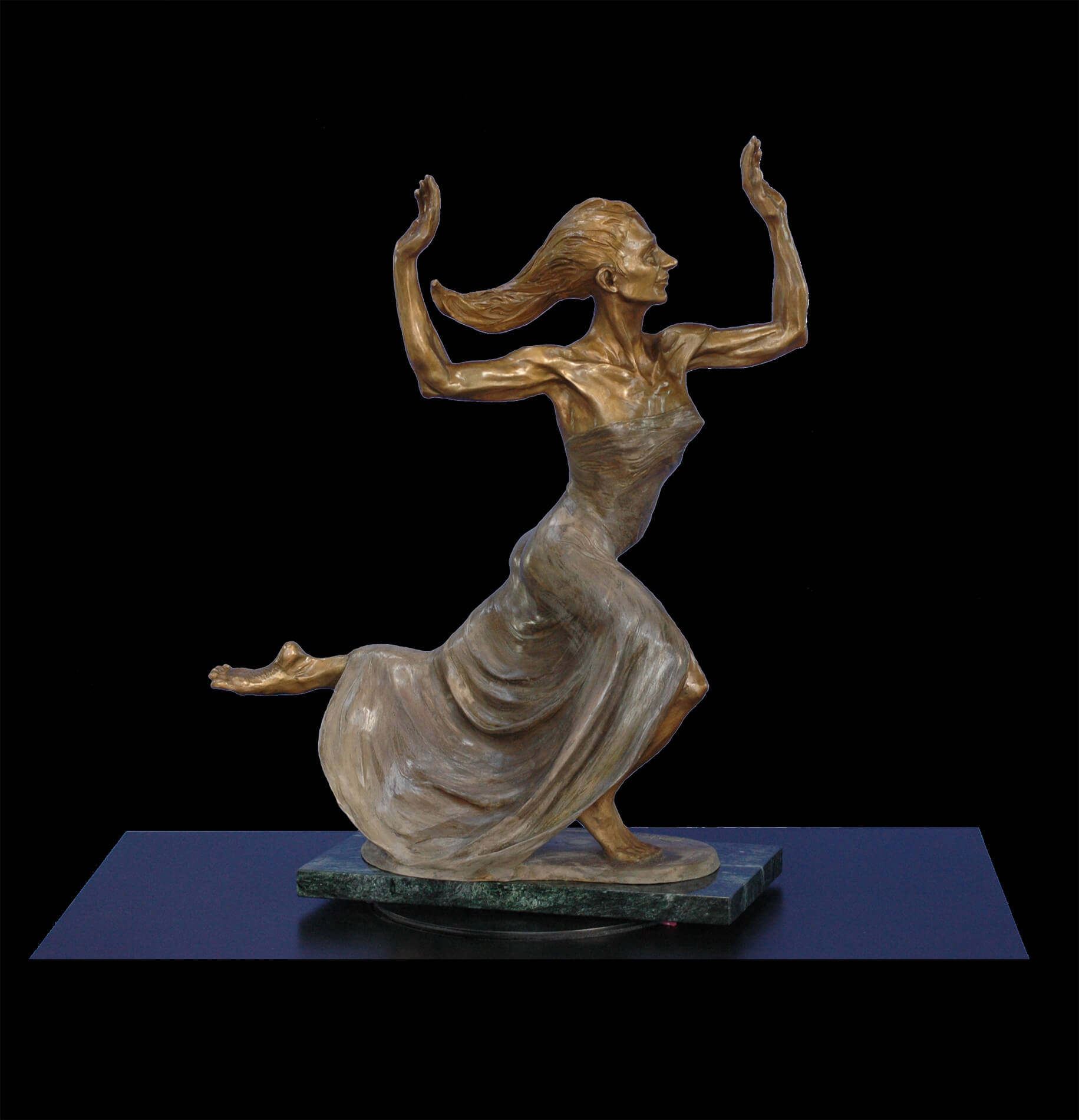 Amazing Grace a medium size bronze dancer by sculptor Andrew DeVries