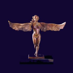 Are you and Angel a bronze angel by sculptor Andrew DeVries