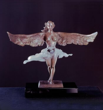 Are you an Angel II a bronze angel by sculptor Andrew DeVries