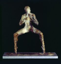 Bhodisattva a spiritual bronze figurative sculpture by sculptor Andrew DeVries