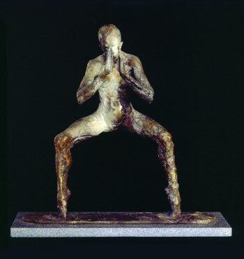 Bhodisattva a spiritual bronze figurative sculpture by sculptor Andrew DeVries