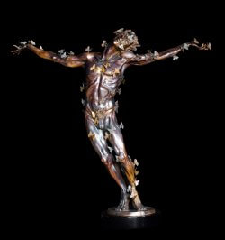 Butterfly Man a figurative bronze sculpture by sculptor Andrew DeVries