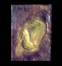 Cais Cais a bronze figurative relief wall sculpture by Andrew DeVries