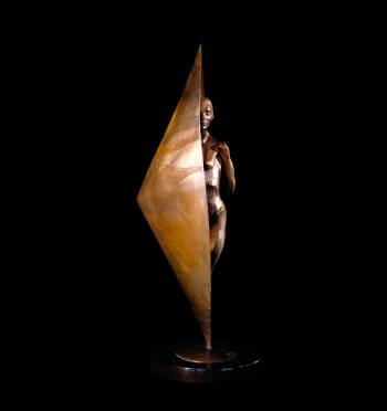 cantos a figurative abstract bronze sculpture by Andrew DeVries