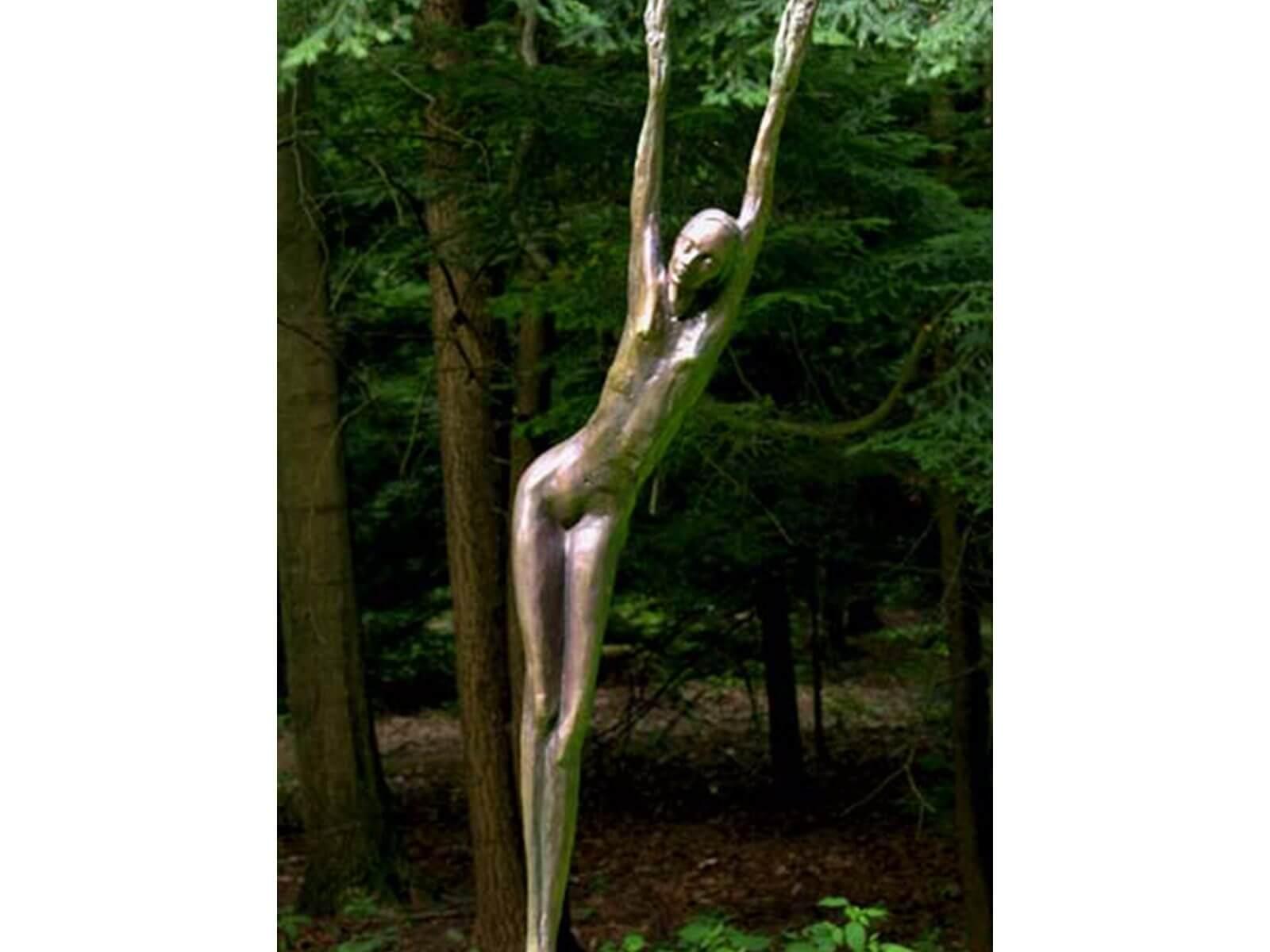 Daphne a Bronze Figurative Outdoor Garden Sculpture by Andrew DeVries