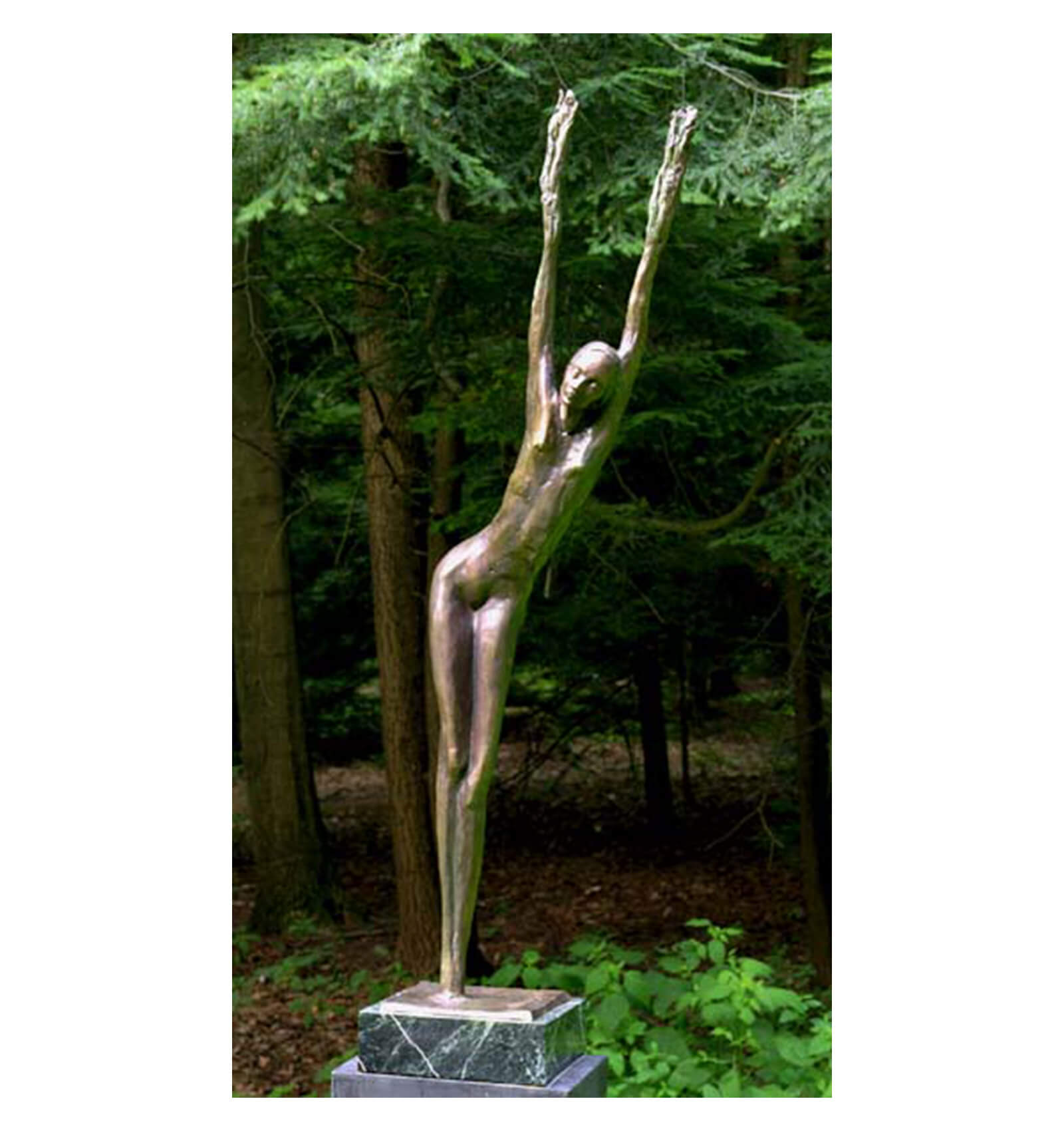 Daphne a Bronze Figurative Outdoor Garden Sculpture by Andrew DeVries