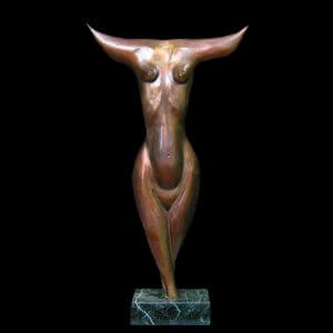 Femme Espagne abstract bronze sculpture by Andrew DeVries