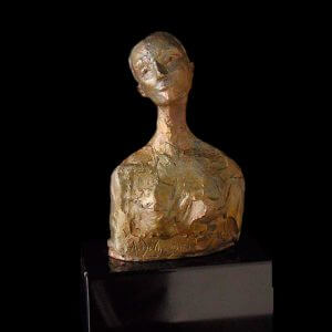 Giovane a small figurative bronze sculpture by Andrew DeVries