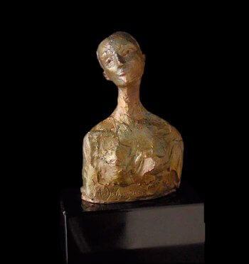 Giovane a small figurative bronze sculpture by Andrew DeVries