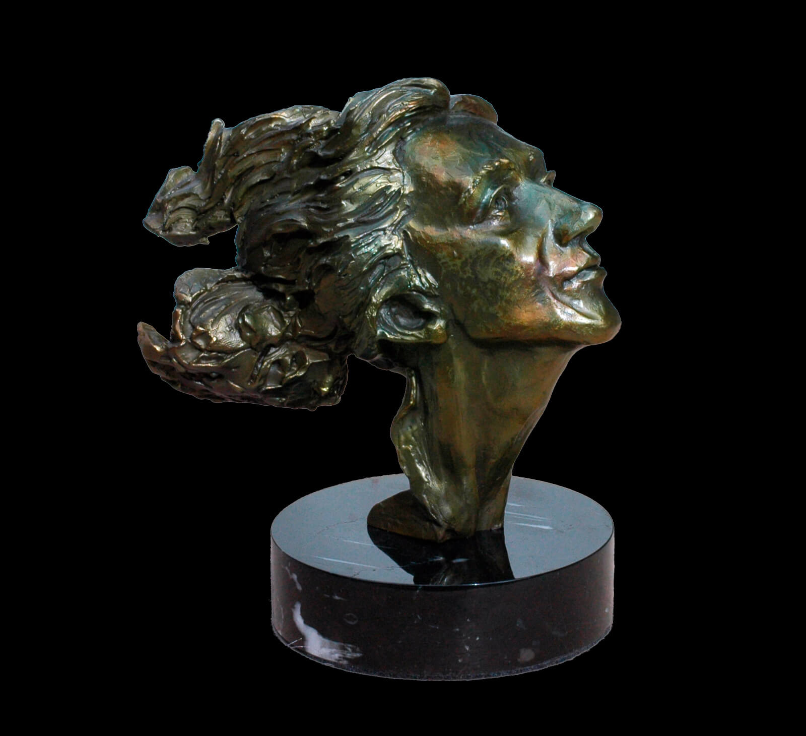 Golden Boy a small figurative sculpture by Andrew DeVries