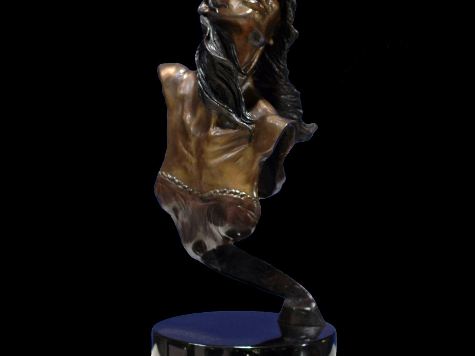 Heather a female bust of ballet dancer Heather Jurgensen a figurative medium size dance sculpture by Andrew DeVries
