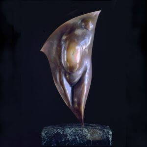 Horizon an abstract figurative bronze sculpture by Andrew DeVries