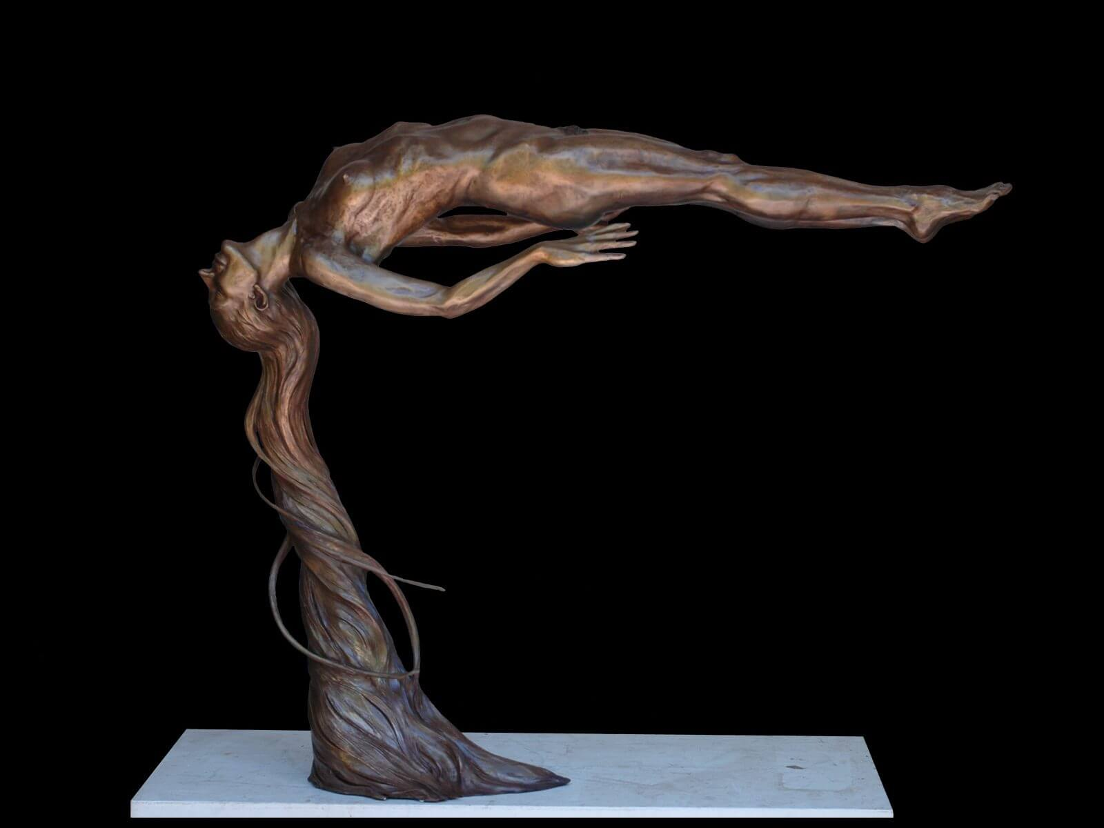 Innocence a figurative bronze sculpture by sculptor Andrew DeVries