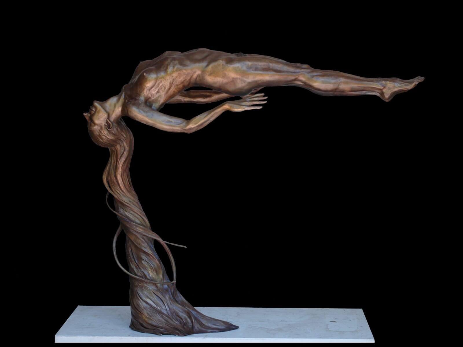Innocence a figurative bronze sculpture by sculptor Andrew DeVries
