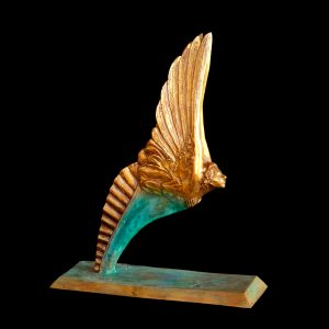 Little Angel bronze angel sculpture by sculptor Andrew DeVries