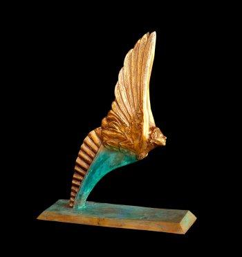 Little Angel bronze angel sculpture by sculptor Andrew DeVries