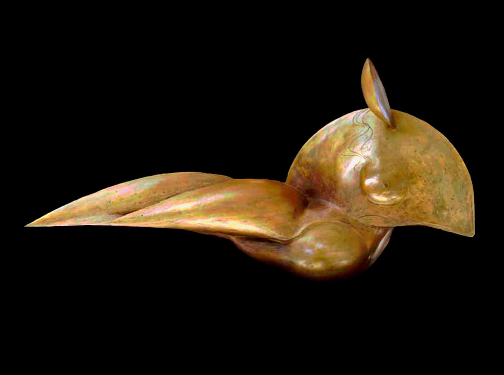 Mediterranean a figurative abstract bronze sculpture by Andrew DeVries