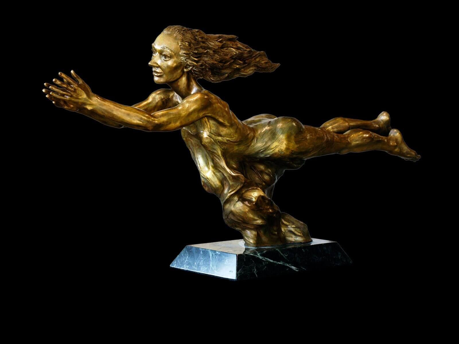 Nimue a figurative bronze sculpture by sculptor Andrew DeVries