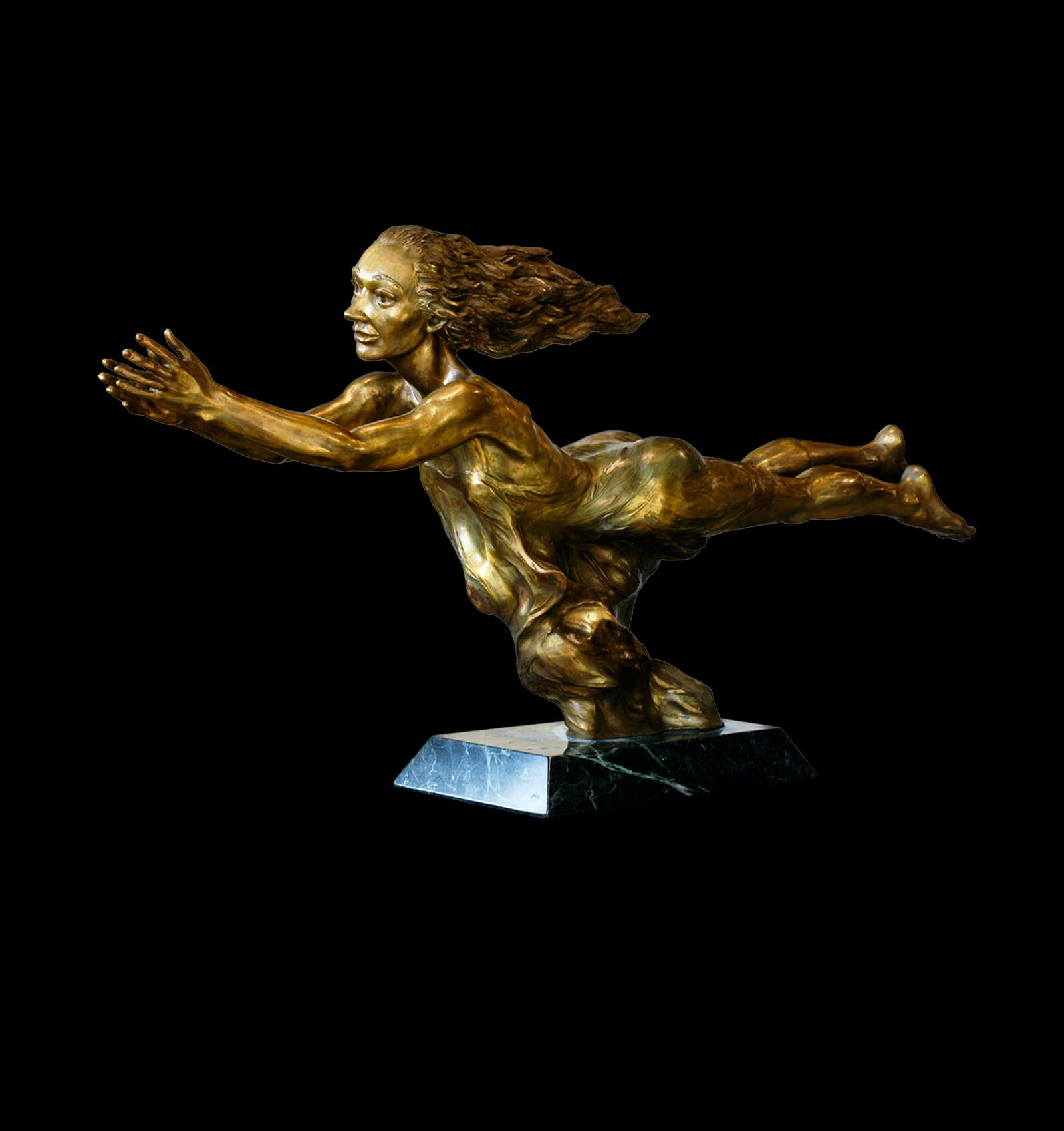 Nimue a figurative bronze sculpture by sculptor Andrew DeVries