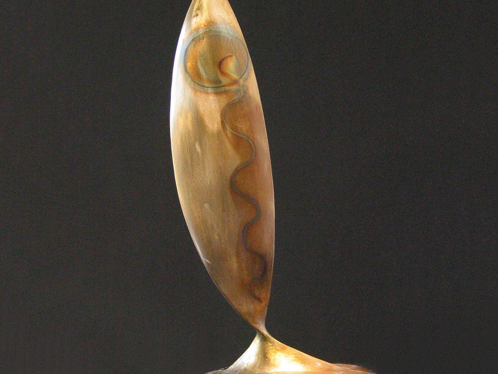 Pesce abstract fish bronze sculpture by Andrew DeVries