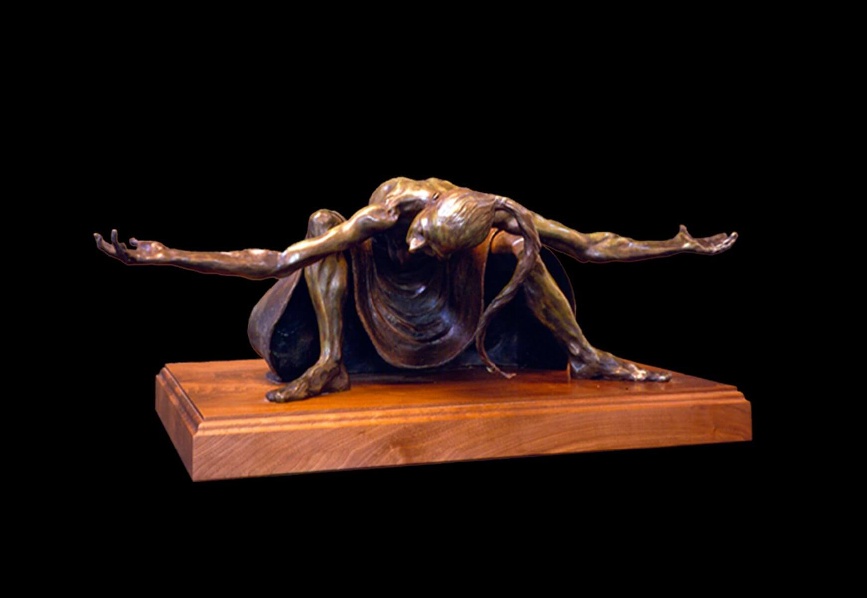 Rebecca a large fremale bronze dancer by sculptor Andrew DeVries