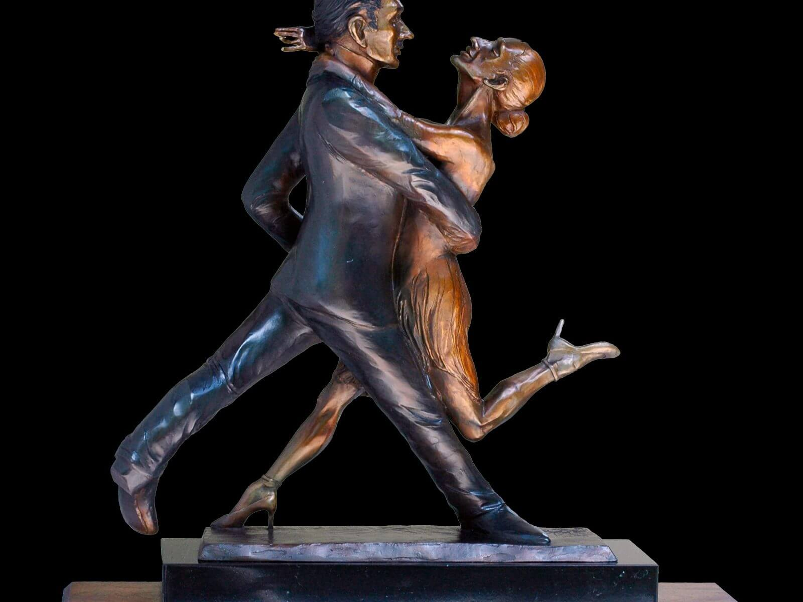 Tango! a medium size tango dance figurative sulpture by Andrew DeVries