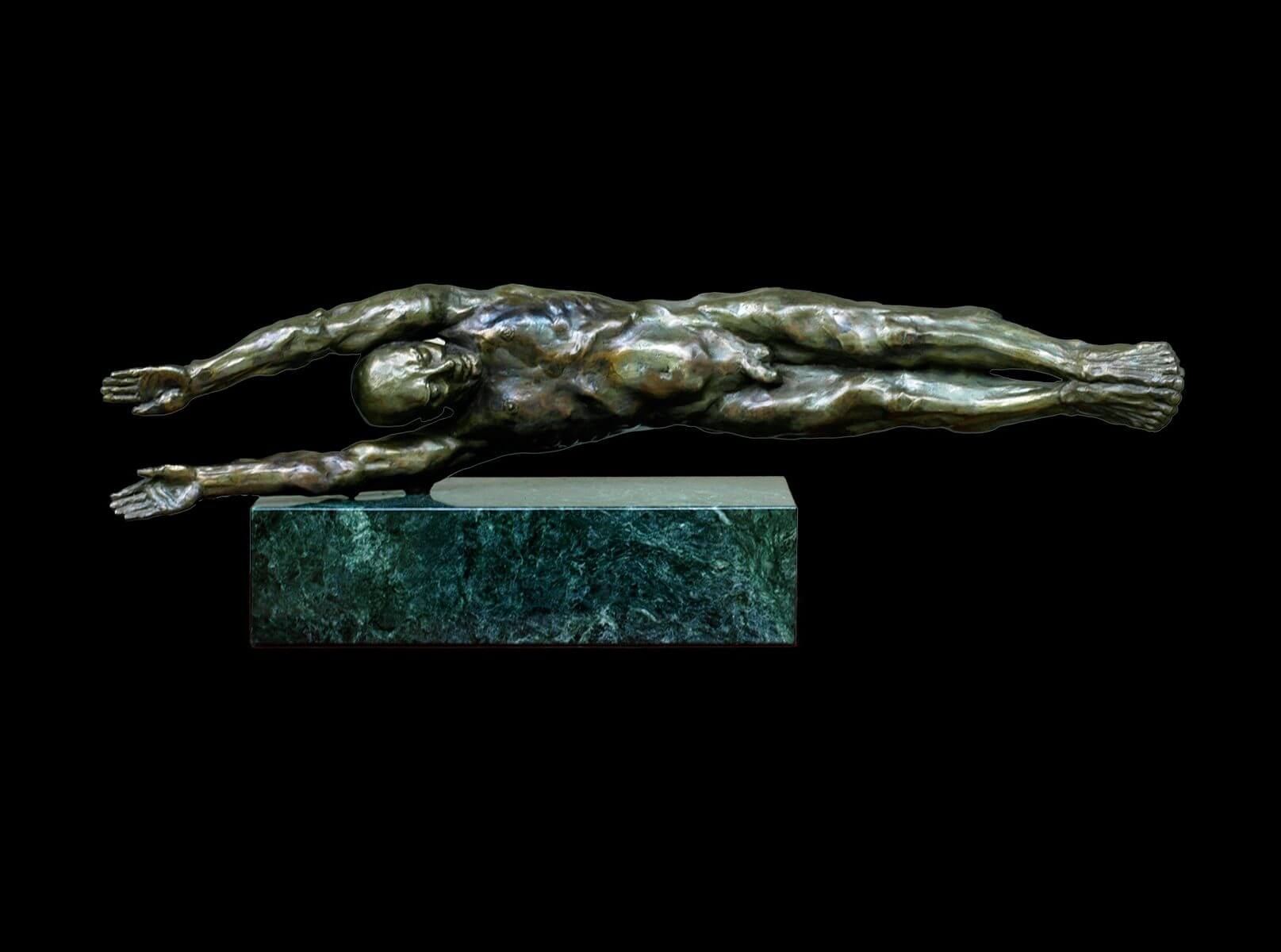 The River a figurative bronze sculpture by sculptor Andrew DeVries
