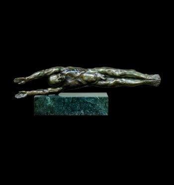 The River a figurative bronze sculpture by sculptor Andrew DeVries