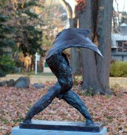 The Wave a Bronze Outdoor Garden Sculpture by Andrew DeVries