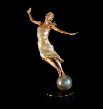The Secret a figurative bronze sculpture by Andrew DeVries