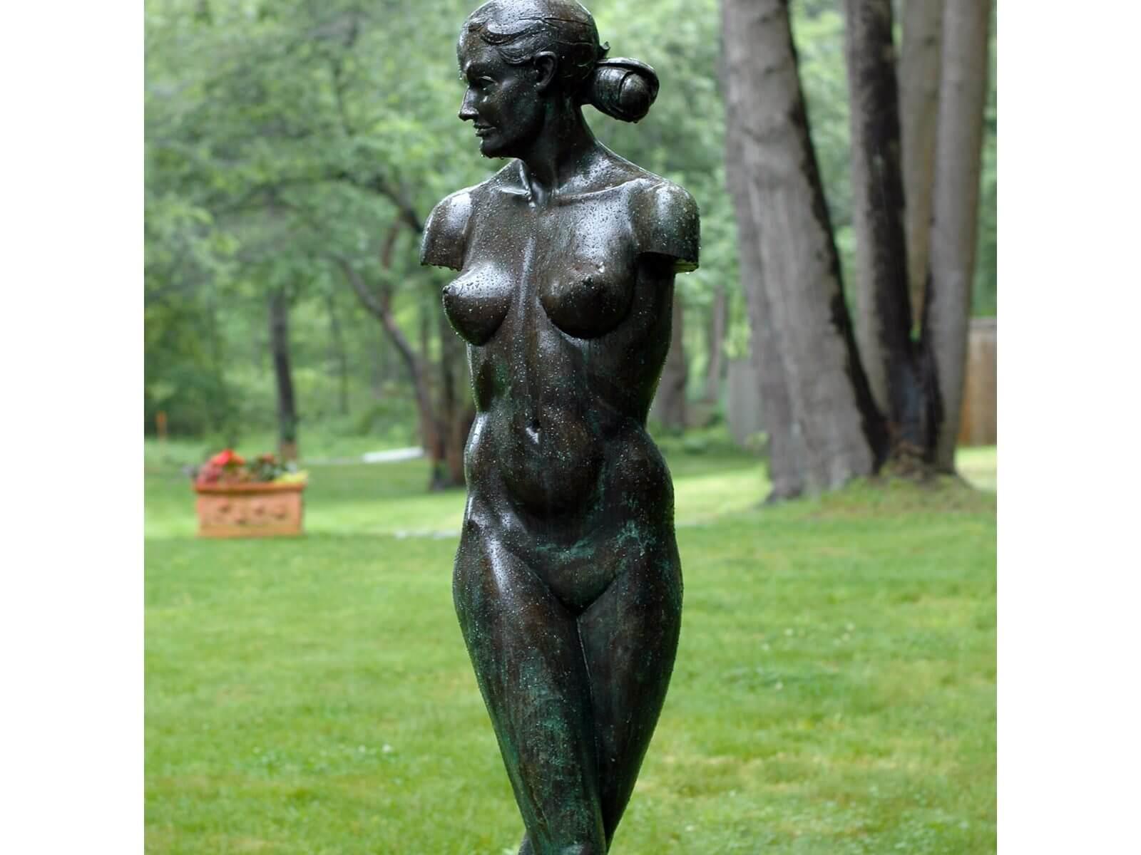 Venus a life size Female nude Bronze Figurative Outdoor Garden Sculpture by Andrew DeVries
