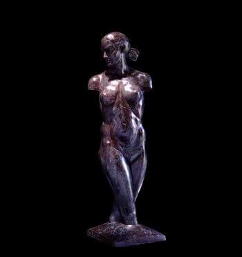 venus Torso a lifesize female nude torso bronze figurative sculpture by Andrew DeVries