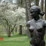 Venus a life size Female nude Bronze Figurative Outdoor Garden Sculpture by Andrew DeVries