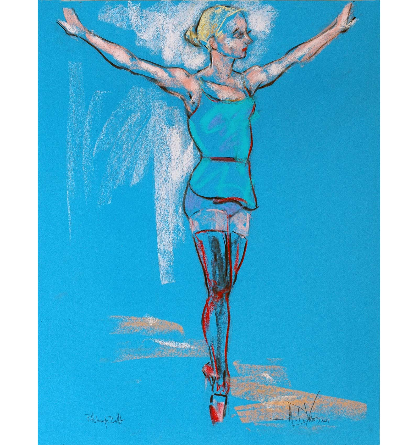 On Pointe a dance pastel by Andrew DeVries