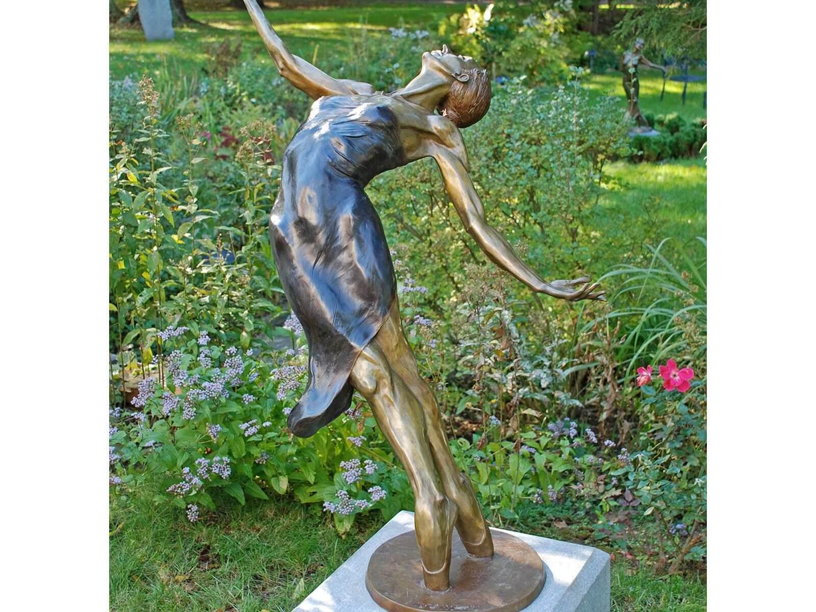 Pleiades a Female Bronze Dance Figurative Outdoor Garden Sculpture by Andrew DeVries
