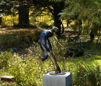 Pleiades bronze dance sculpture by sculptor Andrew DeVries