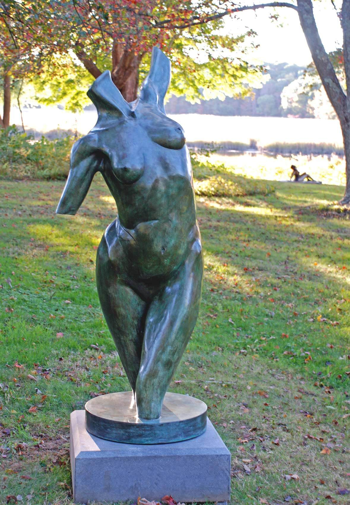 Calliope bronze female nude torso by Andrew DeVries