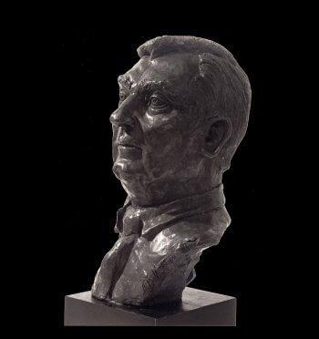Congressman Silvio O. Conte bronze portrait bust by Andrew DeVries installed in the Library of Congress Washington, D.C.