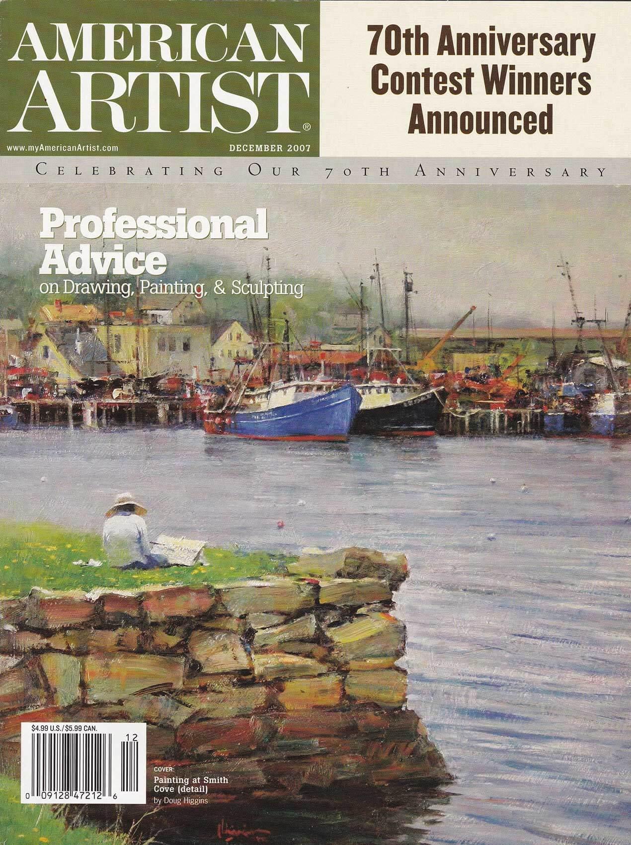 American Artist magazine cover December 2007