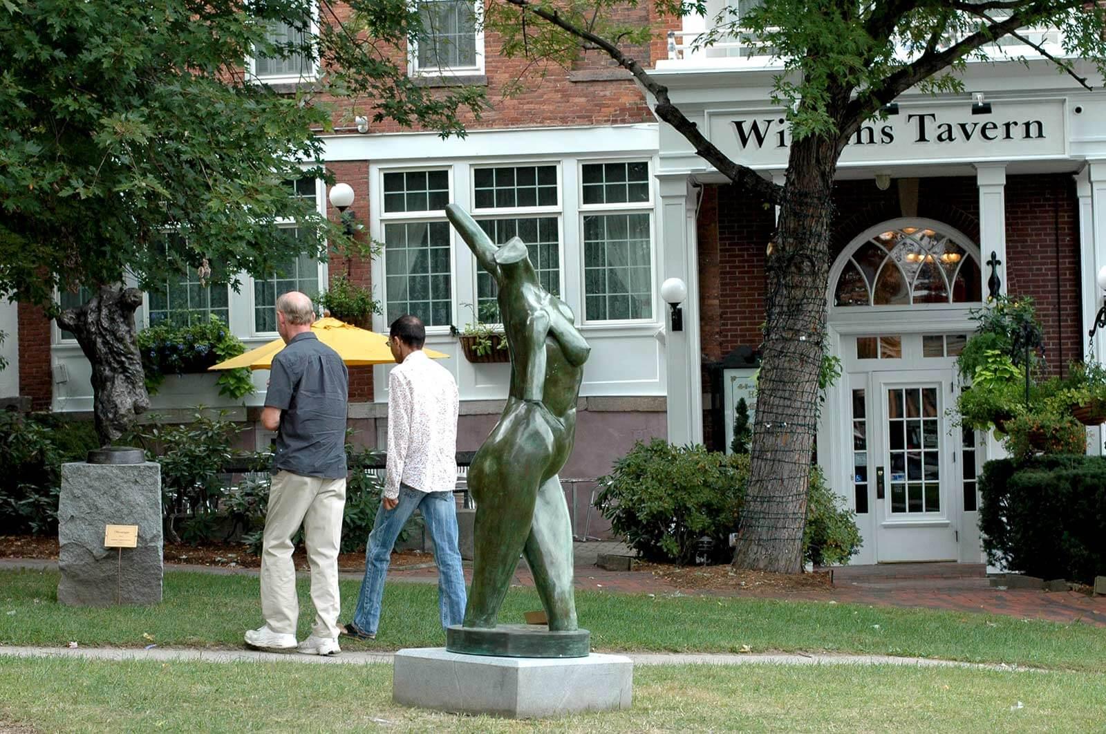 Calliope bronze female nude torso by Andrew DeVries Northampton MA 2007