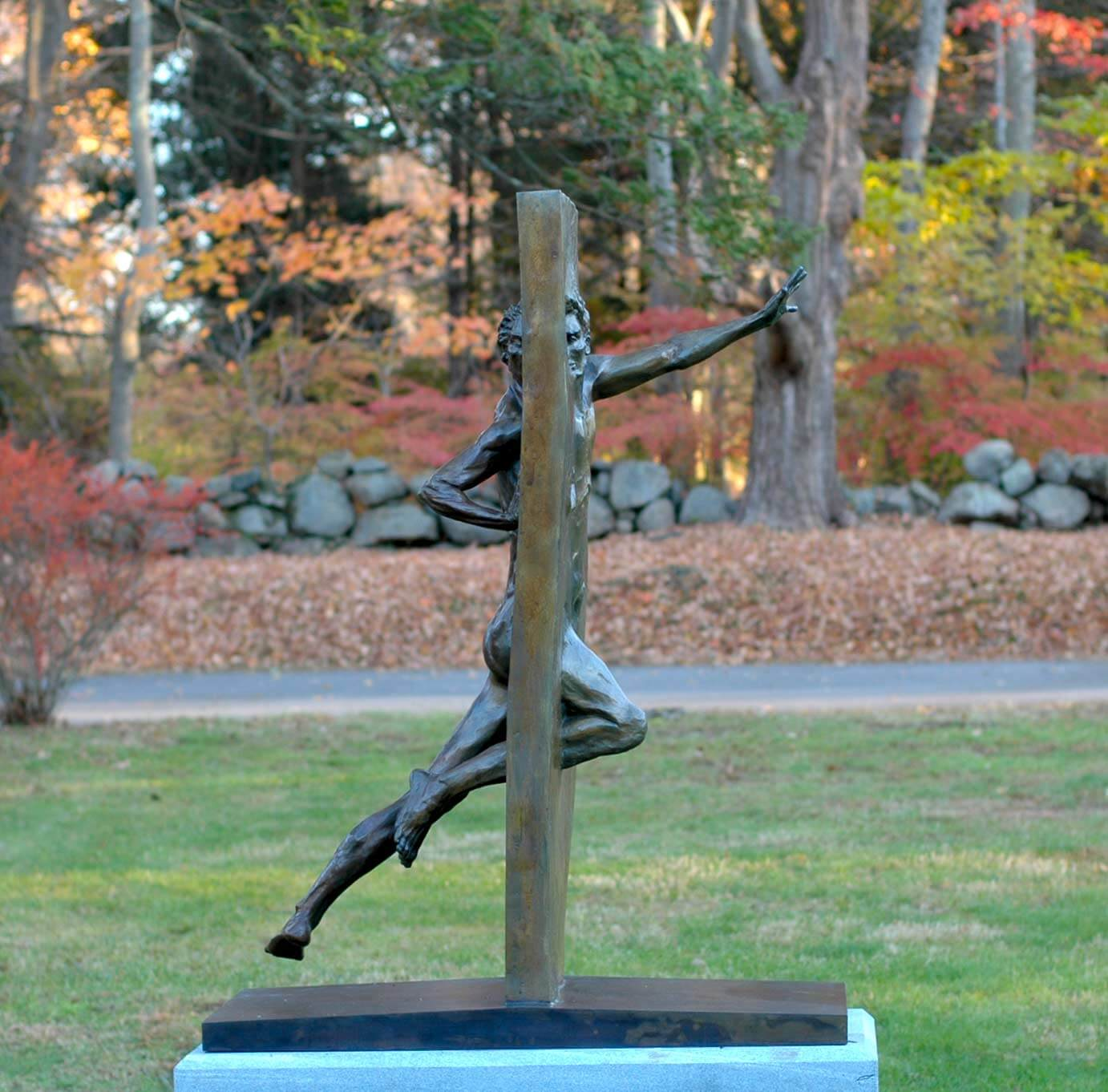 Other Side of Eden bronze sculpture by Andrew DeVries
