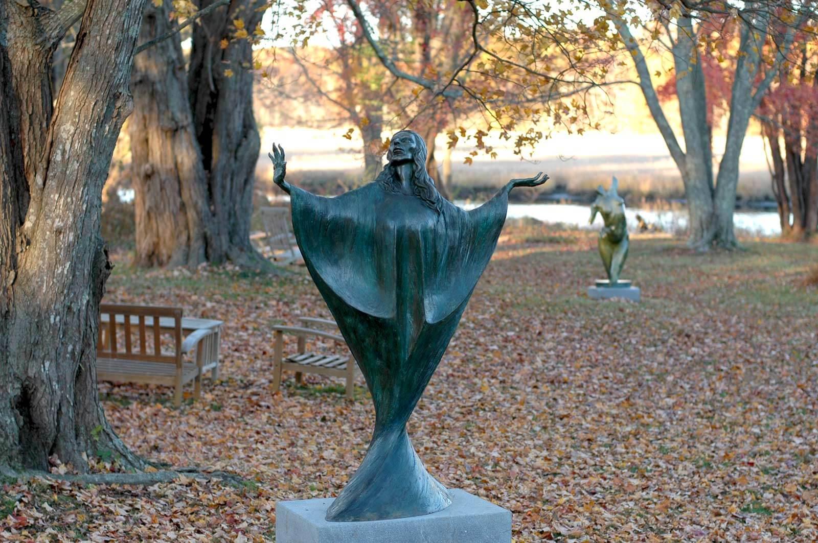 Madonna bronze sculpture by Andrew DeVries
