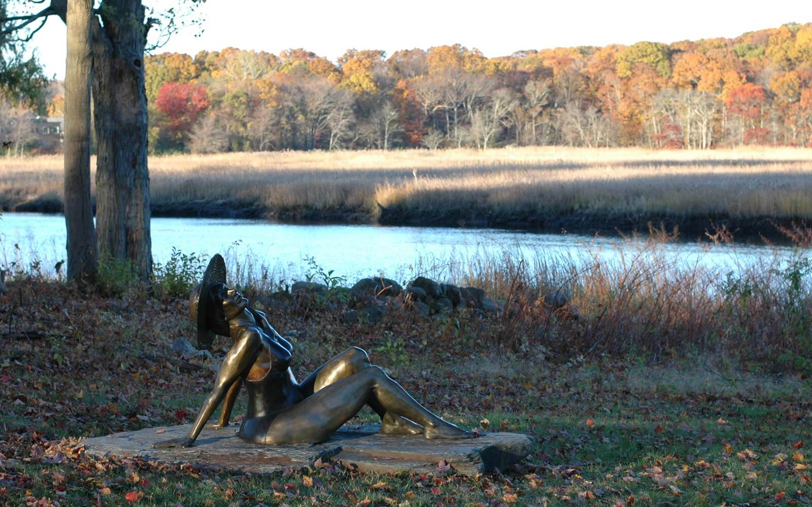 Bather bronze sculpture by Andrew DeVries