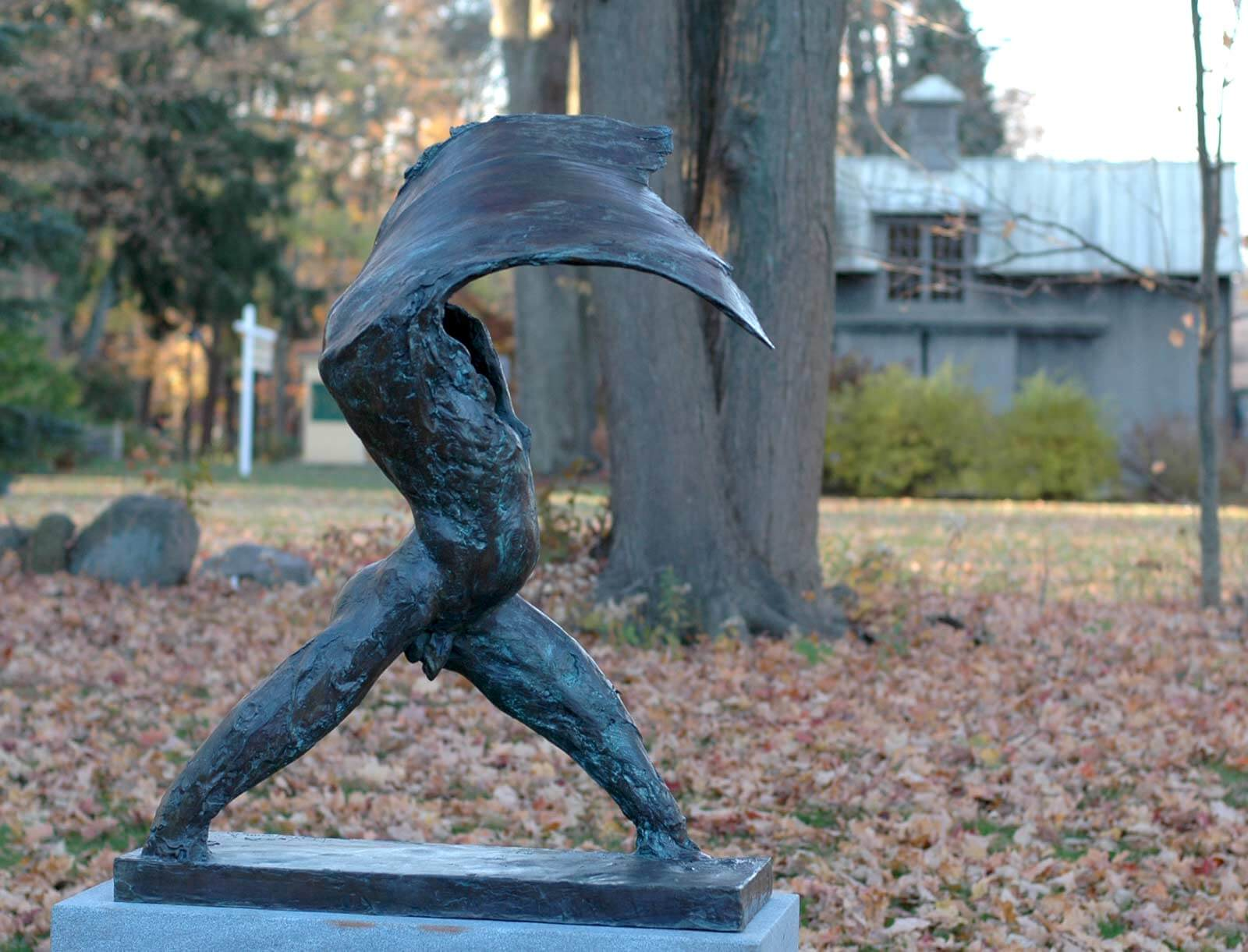 The Wave bronze abstract sculpture by Andrew DeVries