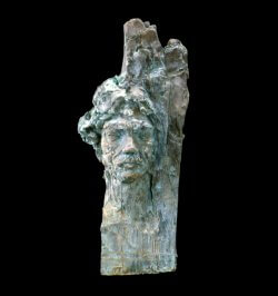 Frank Bruckmann bronze portrait of the painter by sculptor Andrew DeVries